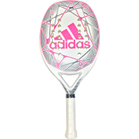 RAQUETE ADIDAS BEACH TENNIS MATCH - BRANCO/ROSA