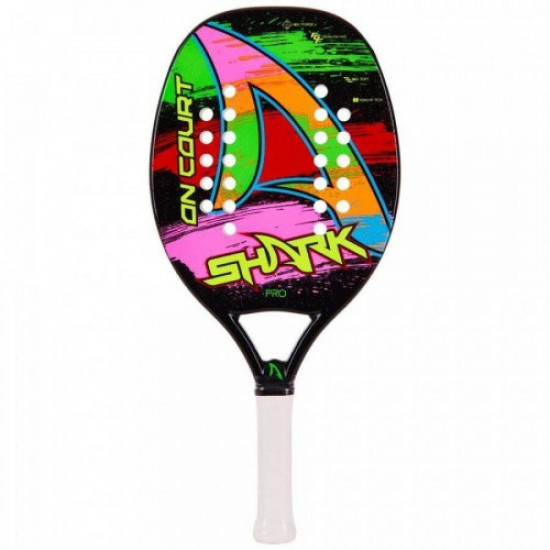 RAQUETE SHARK BEACH TENNIS ON COURT - LARANJA/ROSA/VERDE