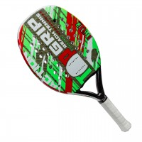RAQUETE TOPGRIP BEACH TENNIS ACTION - VERDE/BRANCO
