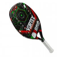 RAQUETE TOPGRIP BEACH TENNIS VORTEX - PRETO/BRANCO