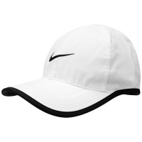 BONÉ NIKE FEATHER LIGHT MASCULINO - BRANCO/PRETO