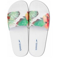 CHINELO SPEEDO SLIDE TROPICAL - BRANCO