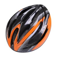 CAPACETE POKER BIKE OUT MOLD - PRETO/LARANJA