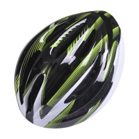 CAPACETE POKER BIKE OUT MOLD - PRETO/VERDE