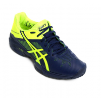 TÊNIS ASICS GEL-SOLUTION SPEED 3 INDIGO BLUE/SAFETY YELLOW