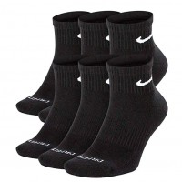 MEIA NIKE EVERYDAY COTTON CUSHIONED ANKLE PRETO X3 - 39-43
