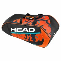RAQUETEIRA HEAD RADICAL X9 SUPERCOMBI - PRETO/LARANJA