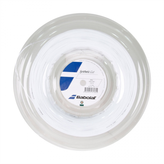 ROLO DE CORDA BABOLAT SYNTHETIC GUT 1.25 - BRANCO