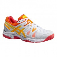 TÊNIS ASICS GEL GAME 5 JR - WHITE/HOT CORAL/NECTARINE