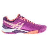TÊNIS ASICS GEL RESOLUTION 6 - BERRY/FLASH CORAL/PLUM