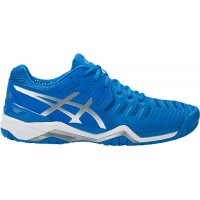 TÊNIS ASICS GEL RESOLUTION 7 - DIRECTOIRE BLUE/SILVER/WHITE