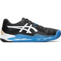 TÊNIS ASICS GEL RESOLUTION 8 CLAY - BLACK/WHITE