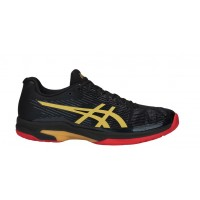 7863afa643b TÊNIS ASICS GEL SOLUTION SPEED FF L.E. - BLACK RICH GOLD