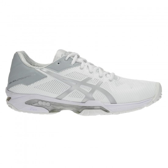 TÊNIS ASICS GEL SOLUTION SPEED 3 - WHITE/SILVER