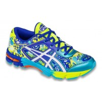 TÊNIS ASICS GEL NOOSA TRI 11 GS - FLASH YELLOW/WHITE/SCUBA BLUE