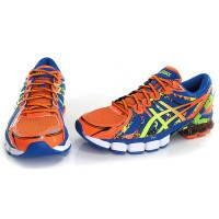 TÊNIS ASICS GEL- SENDAI 2 FLASH ORANGE / FLASH YELLOW / TURKISH SEA