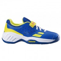 TÊNIS BABOLAT PULSION ALL COURT KID - BLUE/FLUO AERO