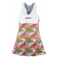 VESTIDO ASICS W TENNIS DRESS - TENNIS PRINT/WHITE