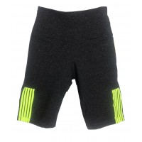 BERMUDA TRINYS COM BOLSO - BLACK BLEND/LIME GREEN