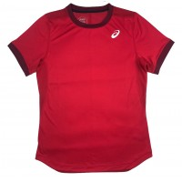 CAMISETA ASICS M CLUB SS TOP - VERMELHA
