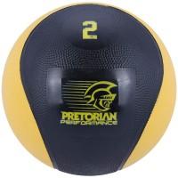 MEDICINE BALL PRETORIAN 2 KG - PRETO/AMARELO