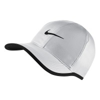 BONÉ NIKE FEATHER LIGHT FEMININO - BRANCO/PRETO