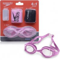 KIT DE NATAÇÃO SPEEDO ACQUA  KIT ROSA - LENTE TRANSPARENTE